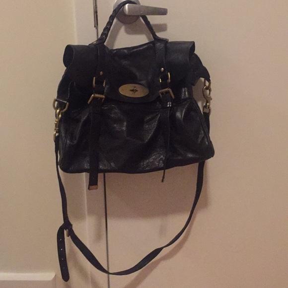 "Mulberry ""Alexa"" satchel black - oversized bf3c7e46b93c3"